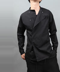 BOTTLENECK METALBUTTON SHIRT BLACK