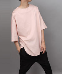CLOTH BIG SILHOUETTE PULLOVER/PINK