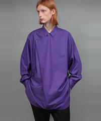 TC BROAD DRAPE SHIRT/PURPLE