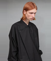 TC BROAD DRAPE SHIRT/BLACK