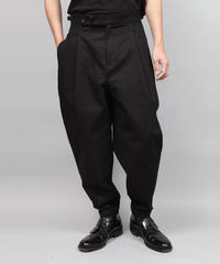 2TACK TAPERD PANTS/BLACK
