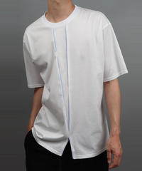 COLOR SCHEME TUCK CROSS T-SHIRT WHITE