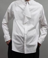 buttoned drape shirts/WHITE