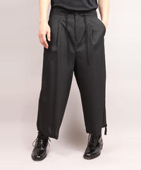 DRAW CODE WIDE PANTS/BLACK