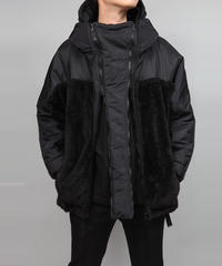 DOUBLE ZIP MILITARY BLOUSON/BLACK