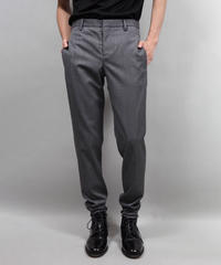 WOOL TWILL TAPERED PANTS/GRAY