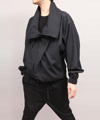 COWL NECK BLOUSON/NAVY