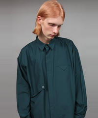 BIG SILHOUETTE COTTON SHIRT/D.GREEN