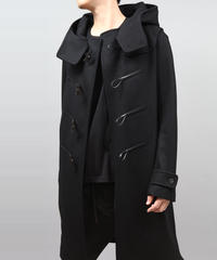 ENGLAND LAMB MELTON DUFFLE COAT/BLACK