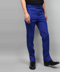 HEM ZIP SLIM PANTS/BLUE