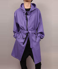 HOODED BLOUSON/PURPLE