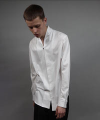 JERSEY SHAWL COLLAR SHIRT/WHITE