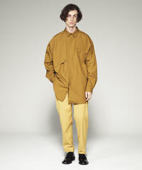BIG SILHOUETTE COTTON SHIRT/BEIGE