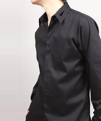 HOLLOW COLLAR SHIRT/BLACK