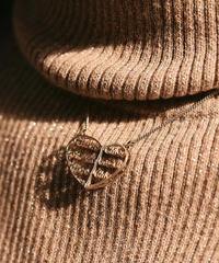 Chloe/logo heart motif necklace.