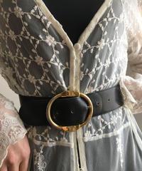 CELINE/vintage macadam buckle belt.