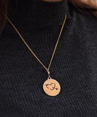 FENDI/ vintage logo gold necklace.