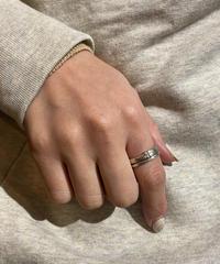 courreges/vintage logo line silver  ring.(P)