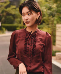 Burberry /ribbon  frilled vintage blouse