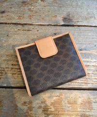 CELINE /vintage macadam motif wallet.