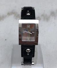 Christian Dior/ vintage black×silver quartz .099(S)