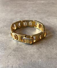 Salvatore Ferragamo/vintage vara motif gold  bracelet.