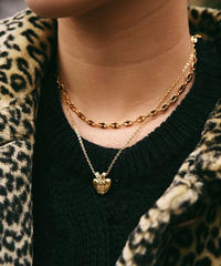 GIVENCHY gold heart logo  necklace, GIVENCHY vintage gold chain necklace.