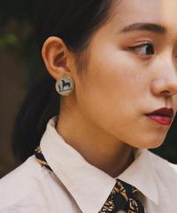 HERMES / vintage design earring.