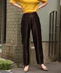 Yves Saint Laurent / vintage satin tapered pants.