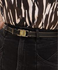 Salvatore Ferragamo / vintage GI belt.(Black) U