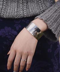 Tiffany&Co. / 1837 wide silver bangle.