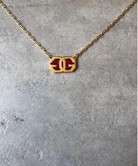 GIVENCHY/vintage logo motif  necklace.(U)