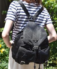PRADA / vintage nylon  double pocket backpack.  (2)