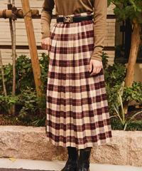 LAURA ASHLEY/ vintage check design skirt.