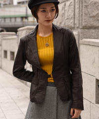 MAX&Co. / vintage  leather design  jacket.