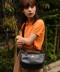 VALENTINO GARAVANI / vintage black  leather shoulder bag.