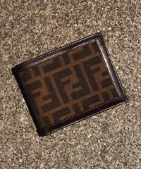 FENDI / vintage zukka design wallet.
