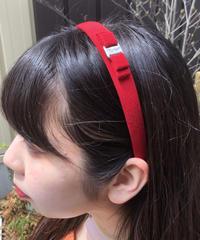 Salvatore Ferragamo/vara ribbon narrow headband (RED). 429002C