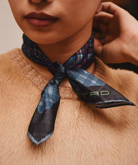ETRO/ vintage check scarf. /