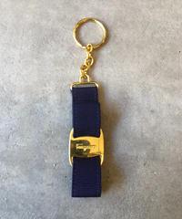 Salvatore Ferragamo/vintage vara motif key ring.(S)