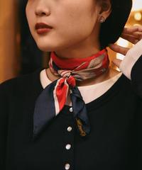 CELINE/ vintage bit motif silk100% scarf.  / Paris