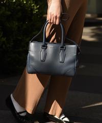 JIL SANDER /  vintage 2way emboss leather bag.