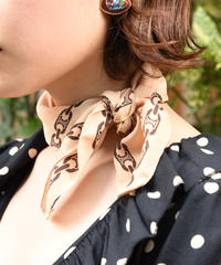 CELINE/ Vintage macadam chain motif scarf.