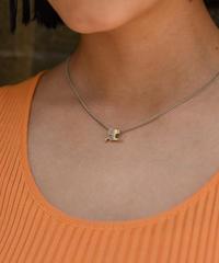 Courreges / bi-color  AC logo motif necklace.