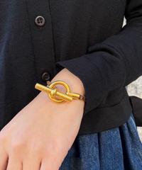 HERMES/ vintage toggle gold bracelet.  430017H(P)