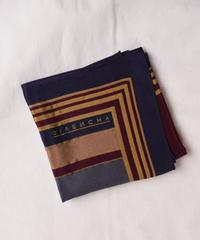 Givenchy / line design silk scarf.