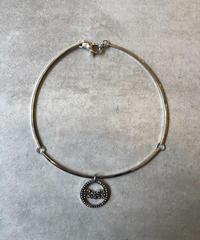 Dolce&Gabbana/silver logo line stone  choker .(U)