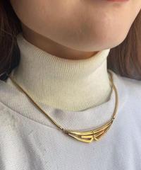Givenchy / vintage G logo gold necklace.(U)13