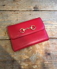 GUCCI  /vintage red horse bit wallet