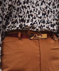 CELINE/ horse carriage slim belt.